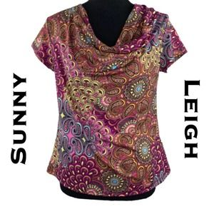 Sunny Leigh Cowl Neck Blouse SIze PS